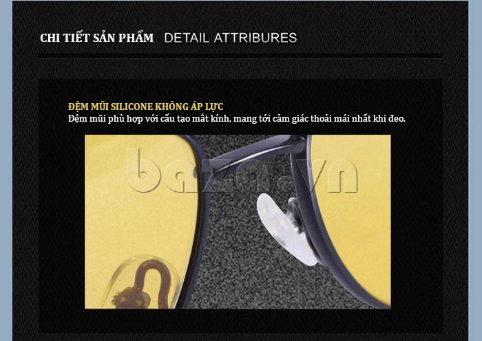 Kính nam Q&J A103 - đệm mũi hoàn hảo