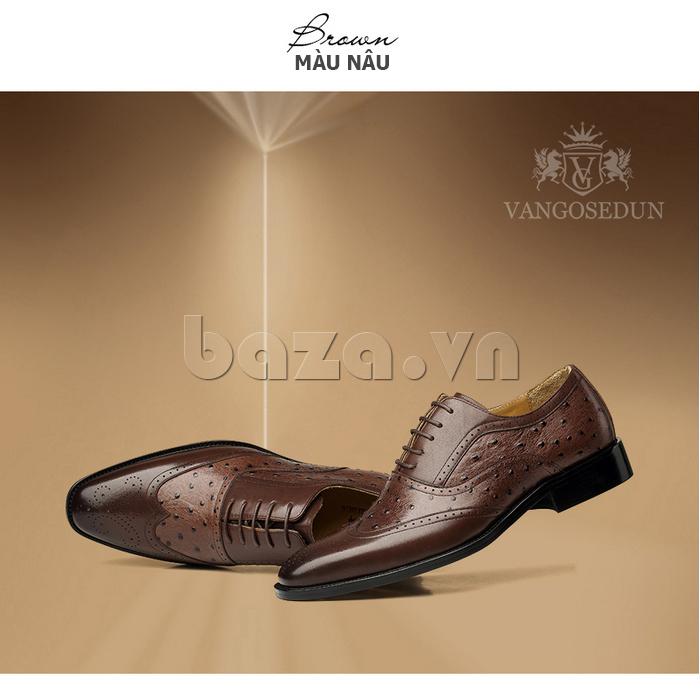 Giày da nam VANGOSEDUN VG78801  kiểu dáng hoàn mỹ\
