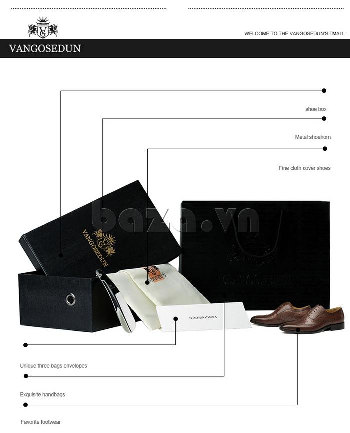 Giày da nam VANGOSEDUN VG78801  tinh tế