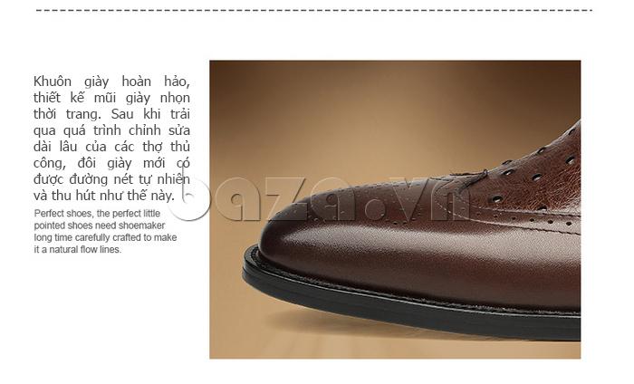 Giày da nam VANGOSEDUN VG78801  khuôn giày hoàn hảo