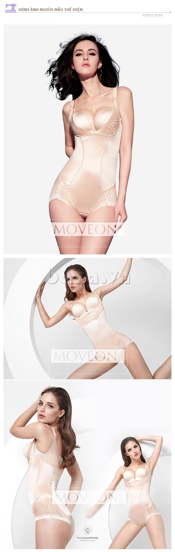 Áo định hình nữ liền thân tôn dáng Moveon bền bỉ