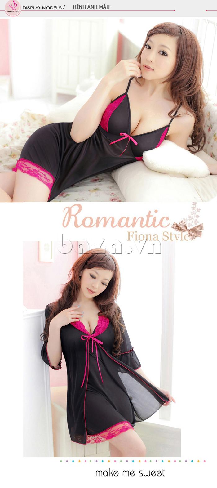 Váy đầm ngủ  ren quyến rũ Hamuse 551012