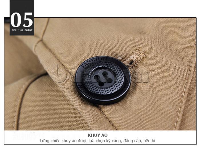 Áo khoác nam thu đông kiểu Hàn CTHAPINE 3562169 - khuy áo bền đẹp