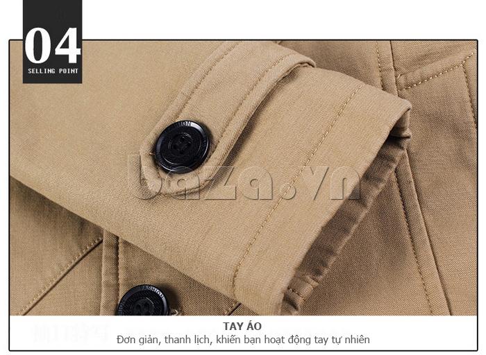 Áo khoác nam thu đông kiểu Hàn CTHAPINE 3562169 - tay áo thanh lịch
