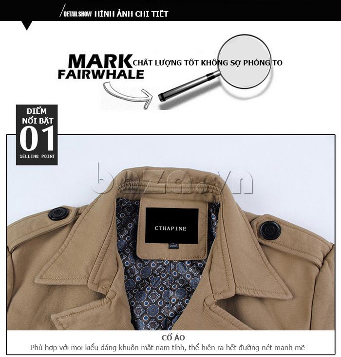 Áo khoác nam thu đông kiểu Hàn CTHAPINE 3562169 - cổ áo nam tính