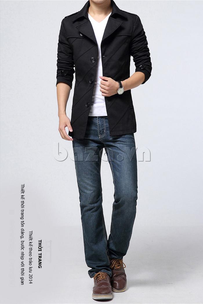Áo khoác nam dáng dài kiểu Hàn CTHAPINE 3562169