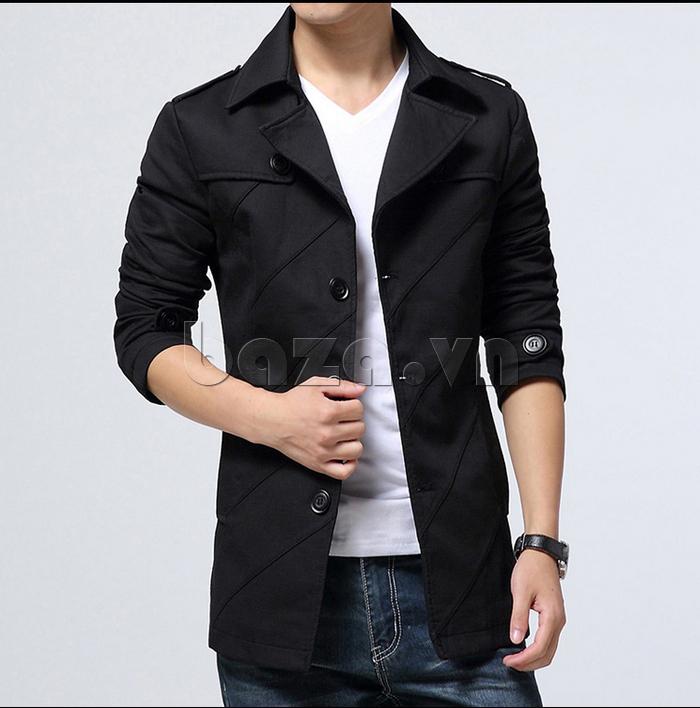 Áo khoác nam dài tay thu đông kiểu Hàn CTHAPINE 3562169