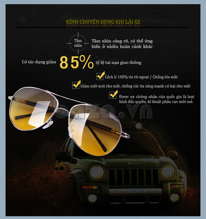 Kính nam phân cực Q&J 209005 - bảo vệ đôi mắt bạn