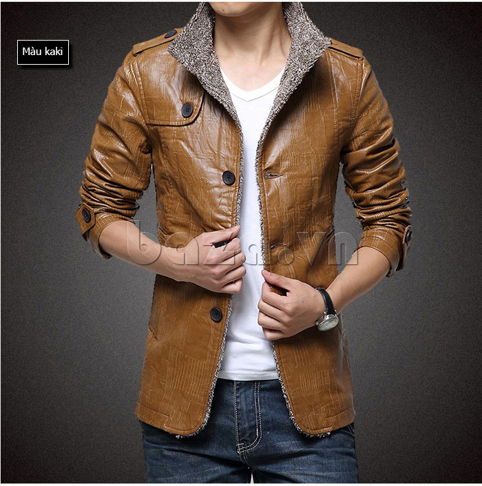 Áo jacket nam GF màu khaki
