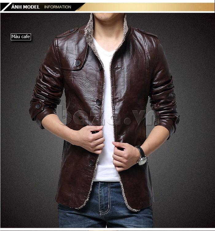 Áo jacket nam GF màu cà phê