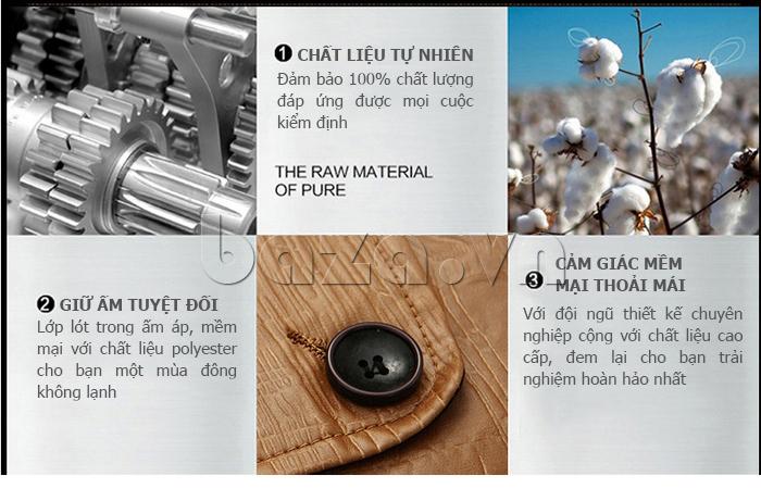 Chất liệu tự nhiên của Áo jacket nam GF