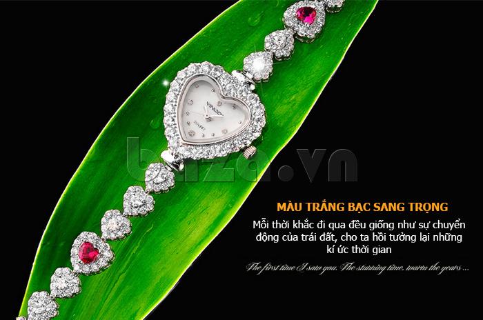 Đồng hồ nữ mặt trái tim Vinoce V633248G vẻ đẹp ấn tượng