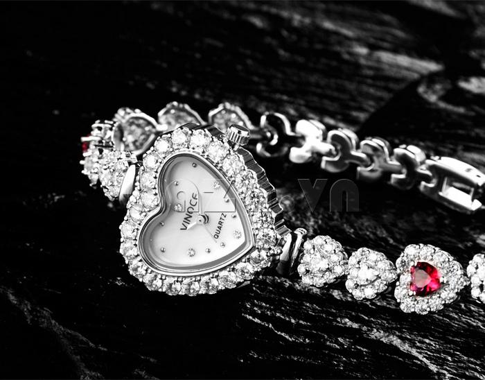 Đồng hồ nữ mặt trái tim Vinoce V633248G tỏa sáng mọi vẻ đẹp