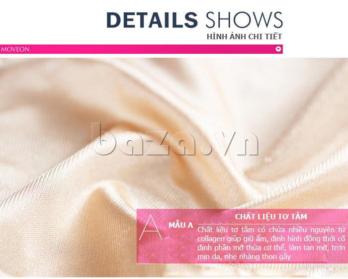 áo định hình liền thân nữ Moveon MS2153  - chất liệu tơ tằm