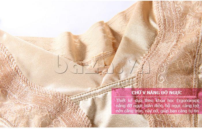 áo định hình liền thân nữ Moveon MS2153  - chữ V nâng ngực
