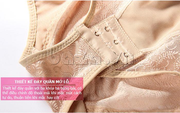 áo định hình liền thân nữ Moveon MS2153  - đáy quần mở lỗ