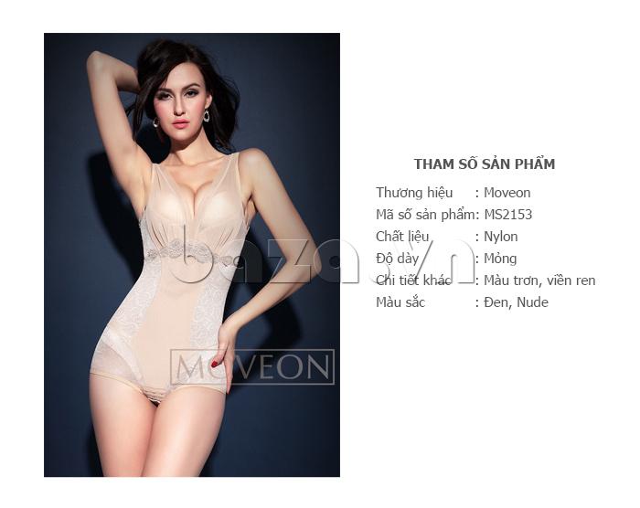 áo định hình liền thân nữ Moveon MS2153