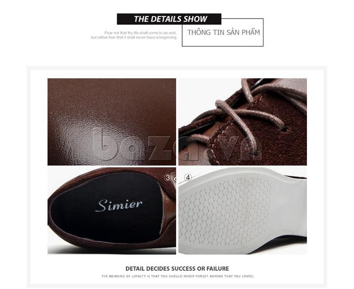 Thông tin sản phẩm Giầy nam Simier 8111