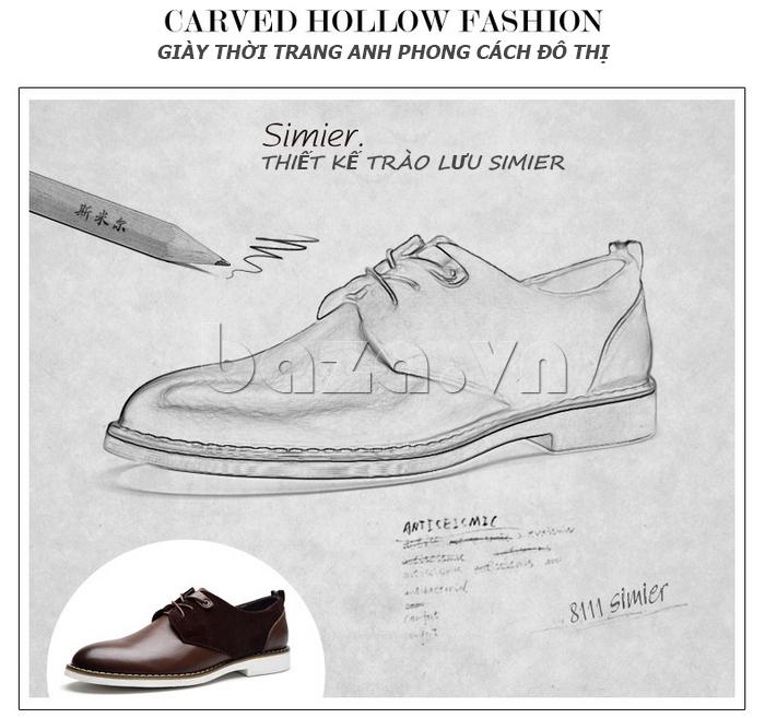 Giầy nam Simier 8111 - giày thời trang