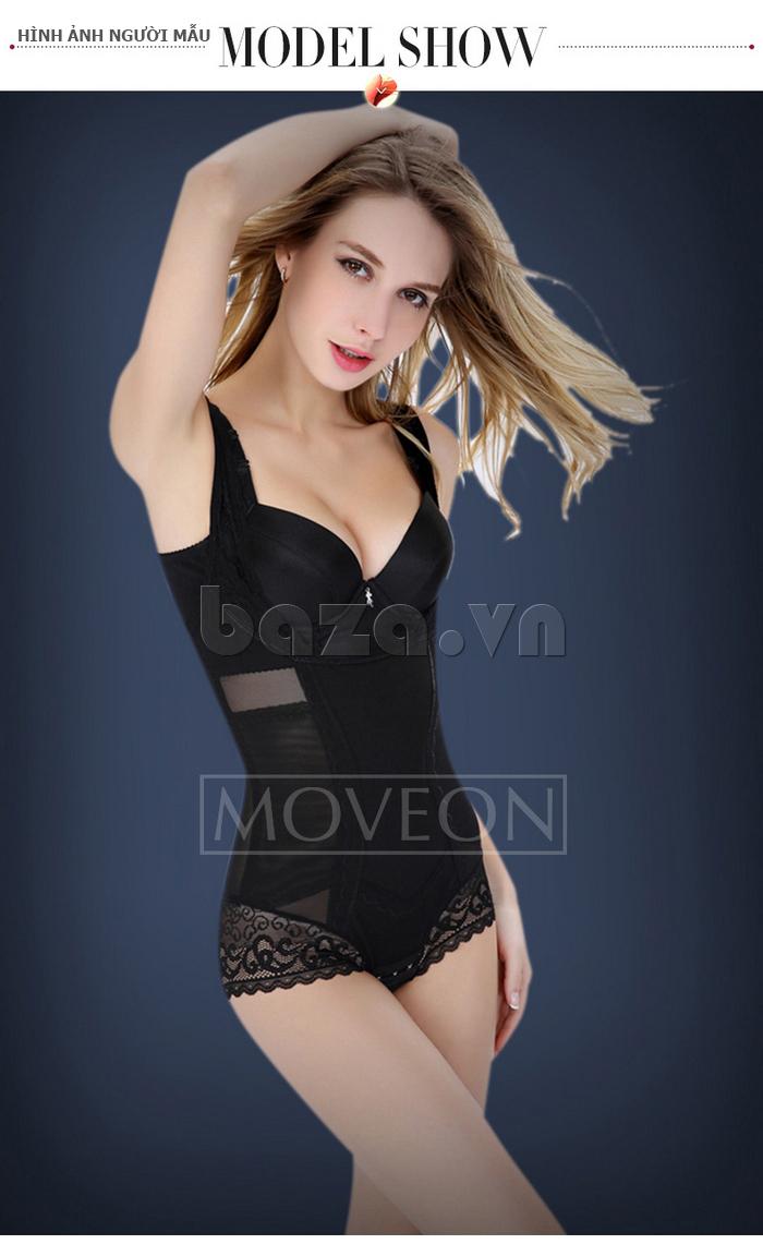 Shapewear nữ liền thân siêu nhẹ Moveon MS3659