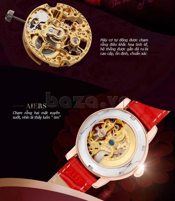 Đồng hồ cơ nữ chính hãng Aiers B202L