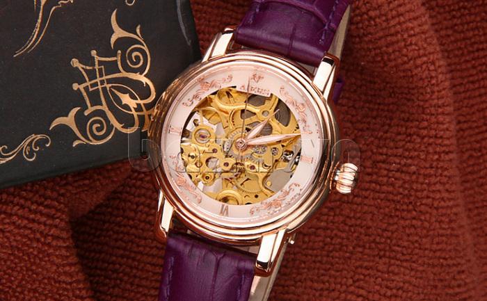 Đồng hồ cơ nữ Aiers B202L cấu tạo sang trọng