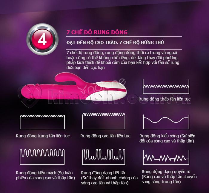 dụng cụ thủ dâm giả dương vật có 7 chế độ rung
