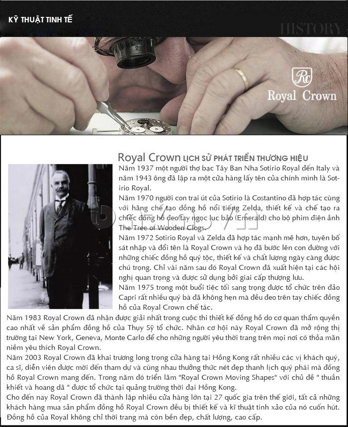 Thương hiệu đồng hồ Royal Crown có lịch sử lâu đời, được yêu mến và tin tưởng