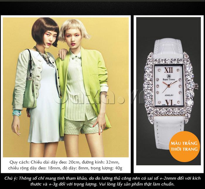 Đồng hồ dây đeo màu trắng tinh khiết