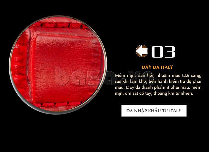Dây đeo đồng hồ chất da thật nhập khẩu từ Italy