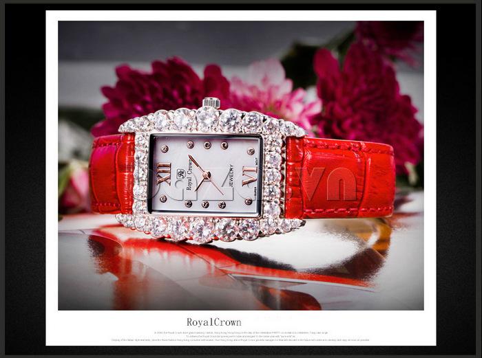 Đồng hồ dây da sắc đỏ trẻ trung, quyến rũ