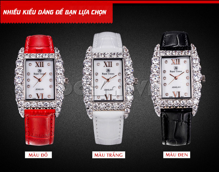 Có tới ba phiên bản cho bạn lựa chọn chiếc đồng hồ nữ Royal Crown này