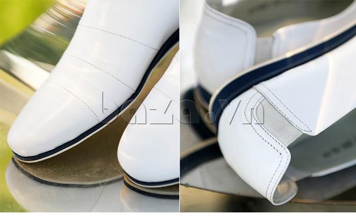 Giày da nam gót chun Olunpo CCY1505 - đường may tinh tế