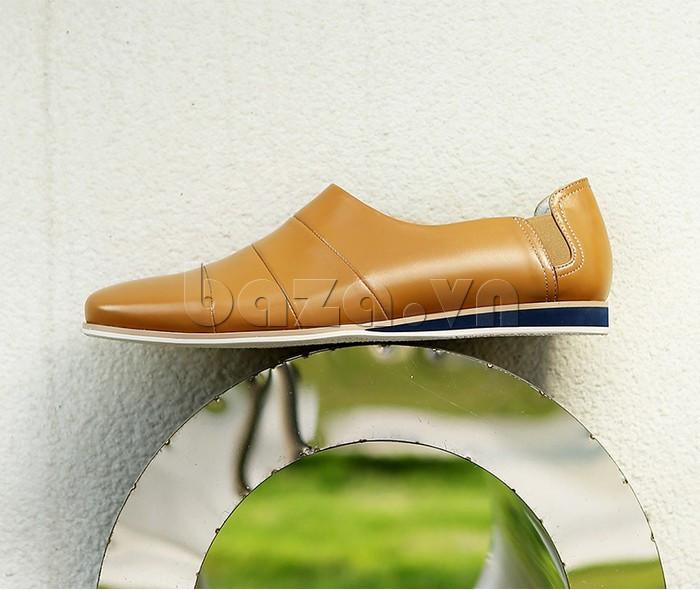 Giày da nam gót chun Olunpo CCY1505 trẻ trung