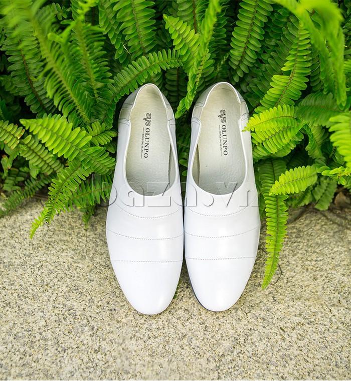 Giày da nam gót chun Olunpo CCY1505 chế tác hiện đại