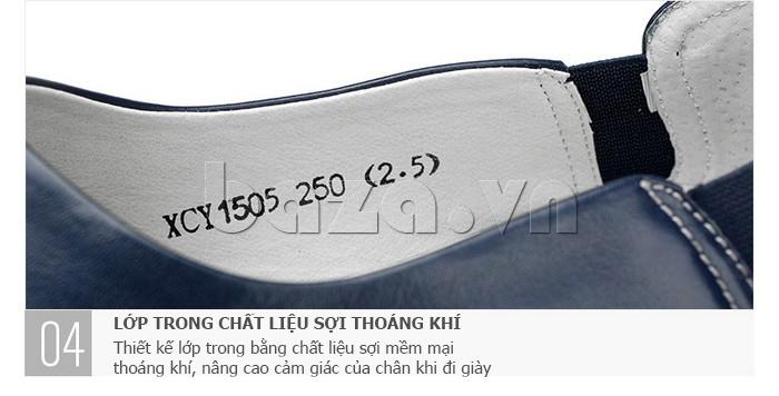 Giày da nam gót chun Olunpo CCY1505 - lớp trong thoáng khí