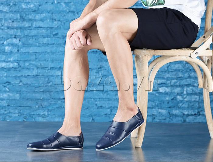 Giày da nam gót chun Olunpo CCY1505