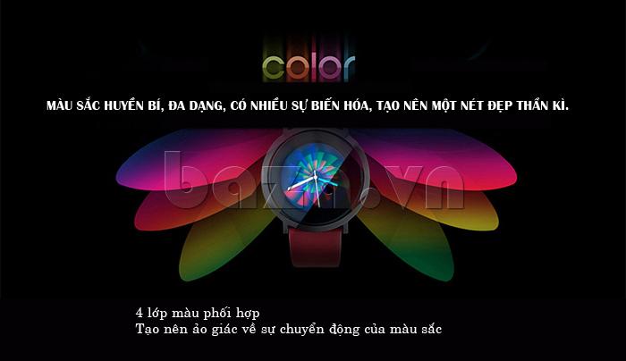 Đồng hồ thời trang Time2U 91-19049 mang nhiều màu sắc huyền bí