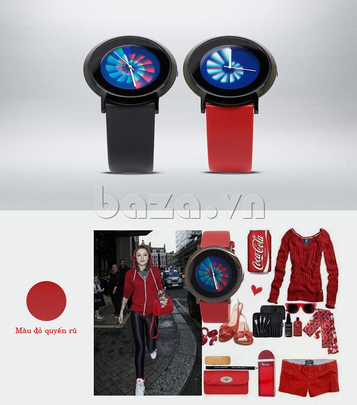 Đồng hồ thời trang Time2U 91-19049 dây da thật cao cấp