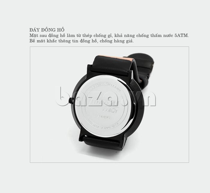 Đồng hồ thời trang Time2U 91-19049 bề mặt sau in logo thương hiệu