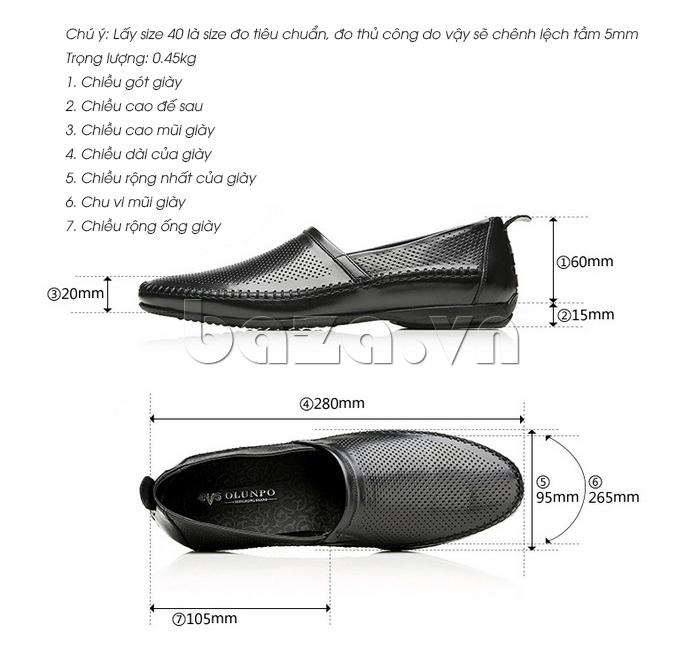 Giày nam Olunpo XCY1503 thiết kế thời trang