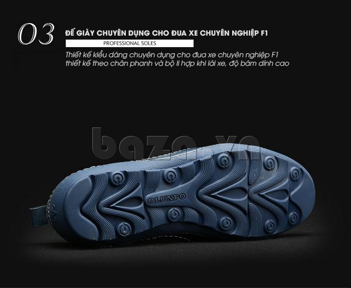Giày lười nam da thật đục lỗ Olunpo XHT1502 - độ bám dính cực cao