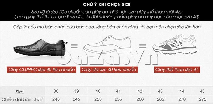 Lựa chọn Giày lười nam da thật đục lỗ Olunpo XHT1502