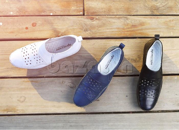 Giày lười nam da thật đục lỗ Olunpo XHT1502 - thiết kế đa dạng