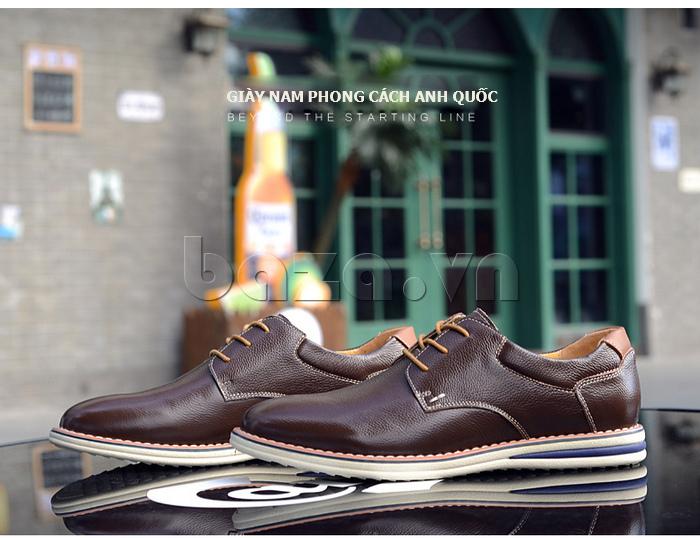 Giày da nam mũi tròn Simier 8126 lịch lãm