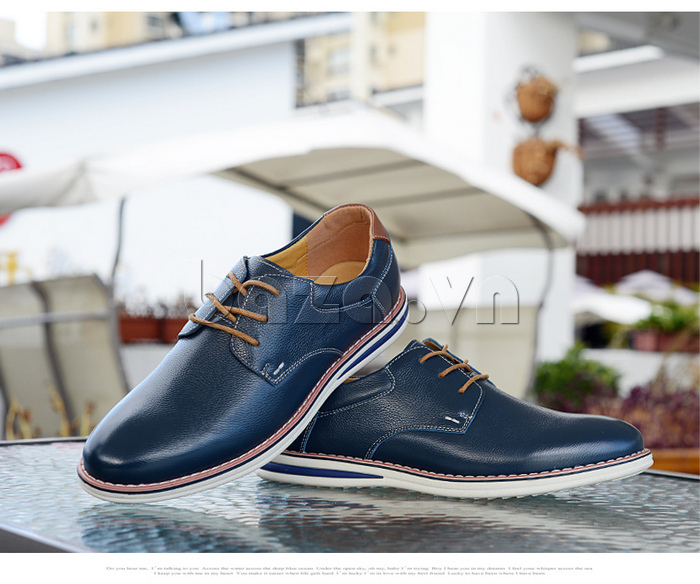 Giày da nam mũi tròn Simier 8126 phong cách trẻ trung