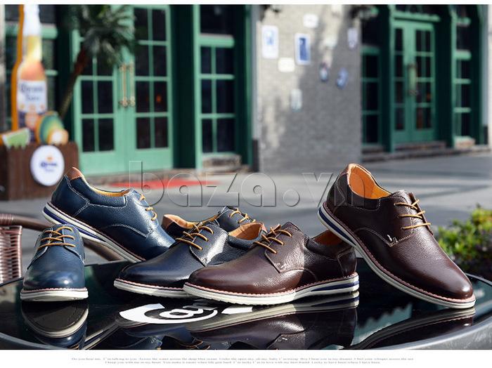 Giày da nam mũi tròn Simier 8126 đẳng cấp