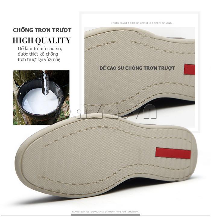 Giày da nam mũi tròn Simier 8126 chất liệu nhập khẩu