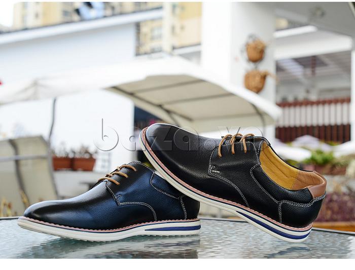 Giày da nam mũi tròn Simier 8126 định nghĩa mới về giày công sở