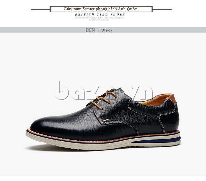 Giày da nam mũi tròn Simier 8126 màu sắc cổ điển